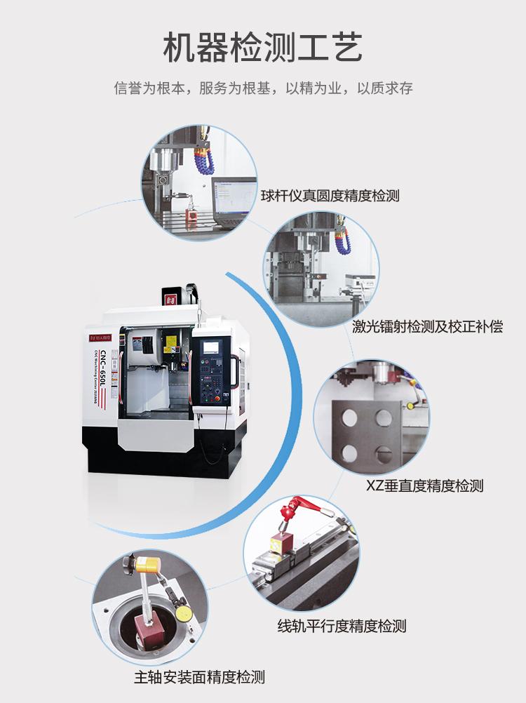CNC650电脑锣加工中心检测工艺